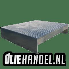 DCQ Lekbak t.b.v. 2x200L vat liggend  gegalvaniseerd