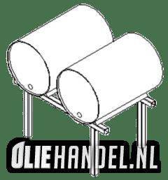 DCQ Vatenbok t.b.v. 2x60L drum  gegalvaniseerd