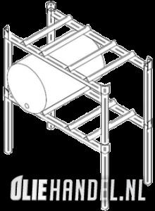 DCQ Vatenbok stapelbaar  per rek 2x60L  gegalvaniseerd