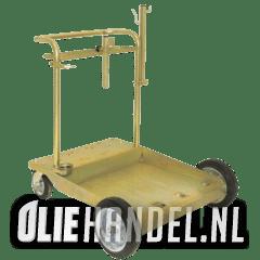 DCQ Drumdolly 'Heavy Dutch' 200L 4 wiels grote uitvoering