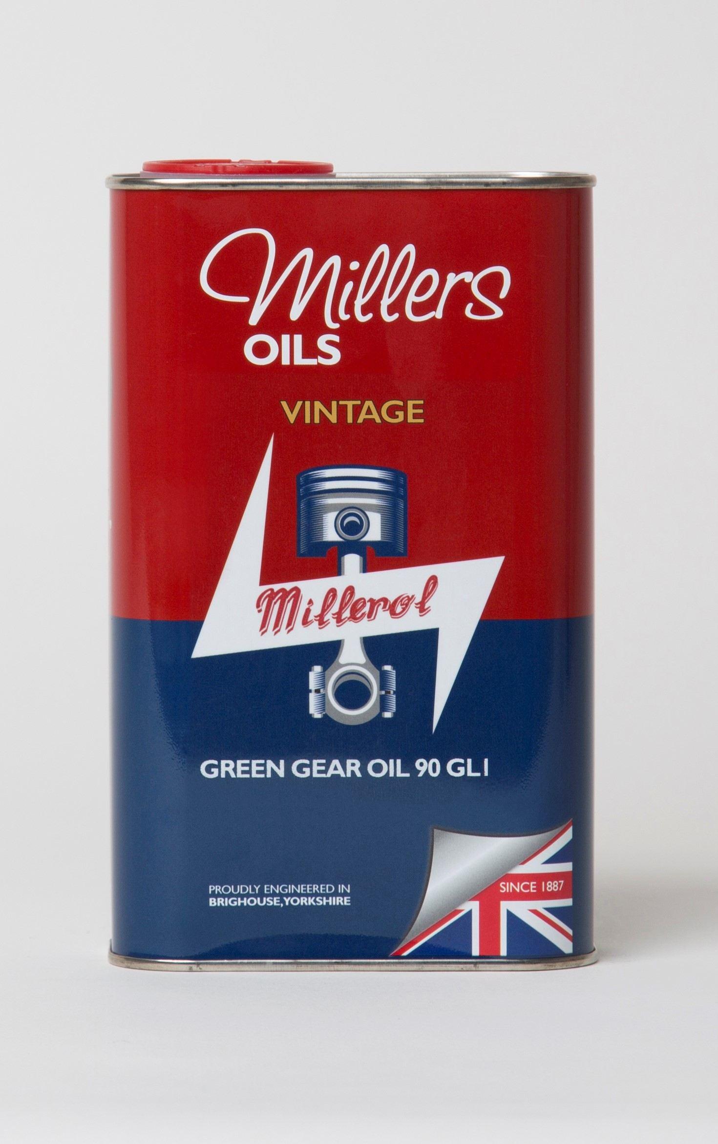 Millers Vintage Green Gear Oil 90 GL1 1L 7924JCT