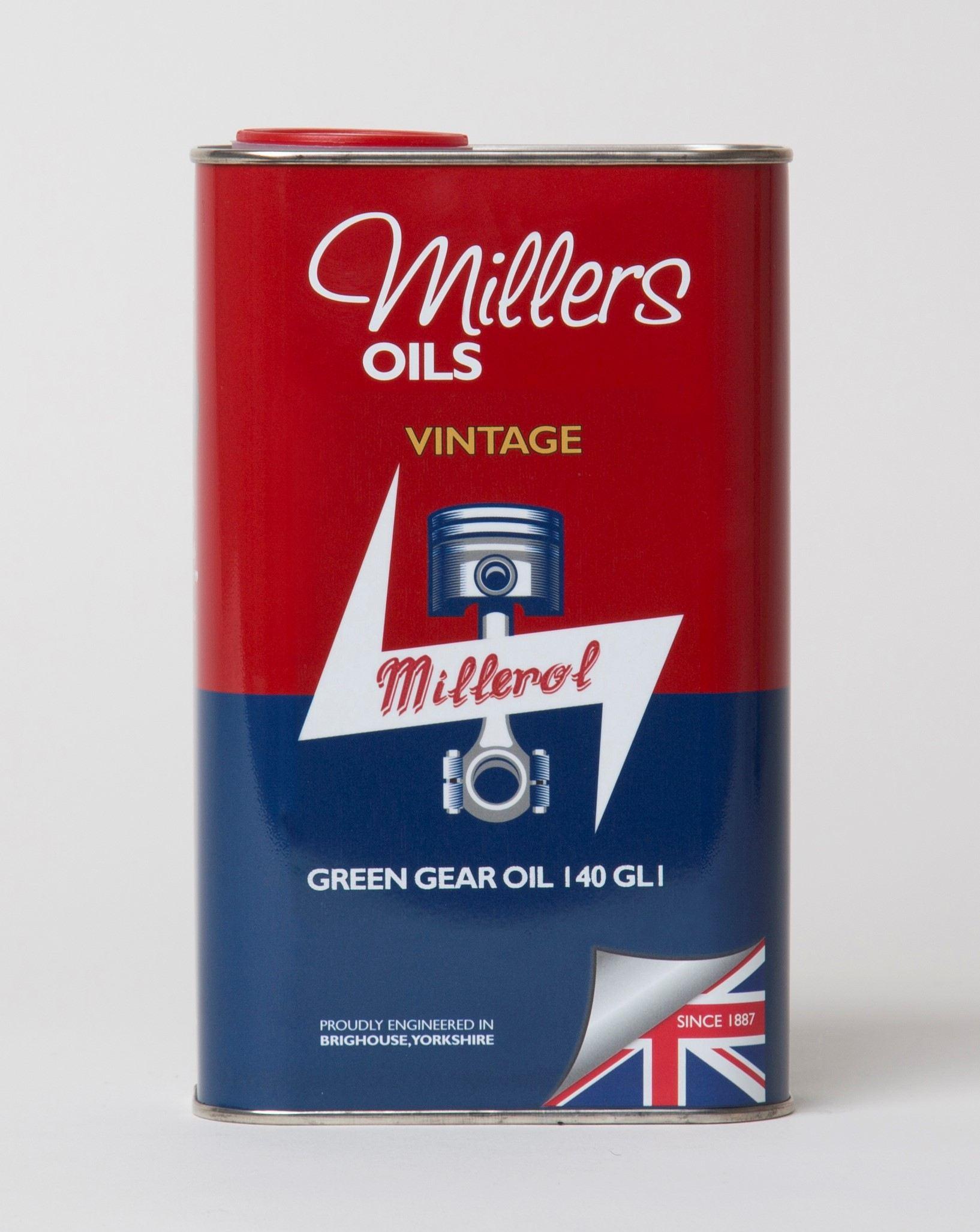 Millers Vintage Green Gear Oil 140 GL1 1L 7925JCT